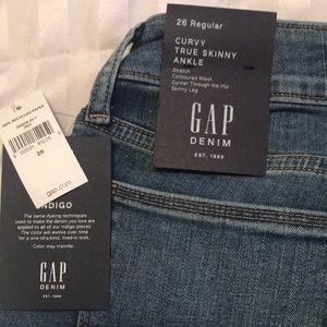 Gap curvy skinny ankle jeans